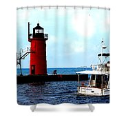 South Haven Michigan Lighthouse By Earl's Photography Shower Curtain