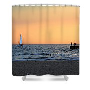 South Haven Sunset Shower Curtain