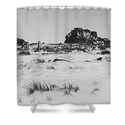 South Hessary Tor In The Snow Shower Curtain