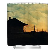 South Holland Train Station Shower Curtain