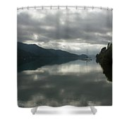 South Island Inlet Shower Curtain