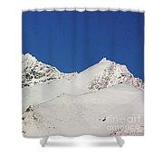 South Island White Peaks Shower Curtain