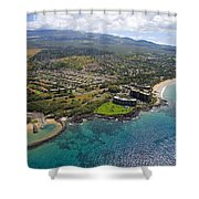 South Kihei Coastline Shower Curtain