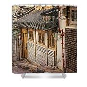 South Korean Hanok Street Shower Curtain