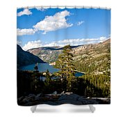 South Lake From Above Shower Curtain