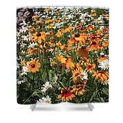 South Lake Tahoe Flowers Shower Curtain