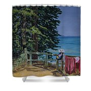 South Lake Tahoe Summer Shower Curtain