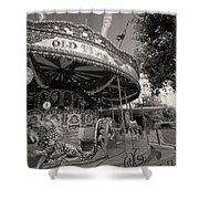 South London Carousel Shower Curtain