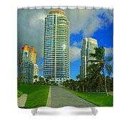 South Miami Beach Shower Curtain