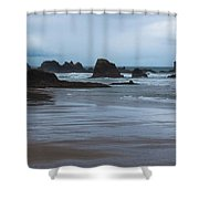 South Of Indian Beach Shower Curtain