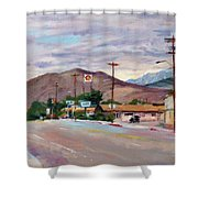 South On Route 395, Big Pine, California Shower Curtain