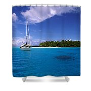 South Pacific Anchorage Shower Curtain