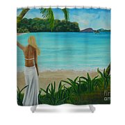 South Pacific Dreamin Shower Curtain