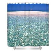South Pacific Sandbar Shower Curtain