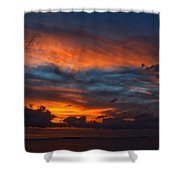 South Pacific Sunset Shower Curtain