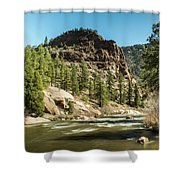 South Platte In Heavy Spring Flows And Wind Shower Curtain