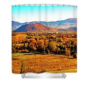 South Reno In Fall Shower Curtain