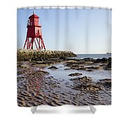 South Shields Groyne Shower Curtain