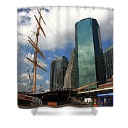 South Street Seaport - New York City Shower Curtain