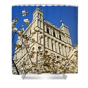 South Tower Exeter Cathedral Shower Curtain