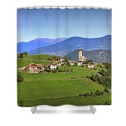 South Tyrolean Panorama Above Bolzano. Shower Curtain