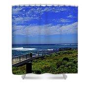South West Coastline Shower Curtain