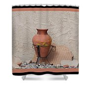 South West Potery Shower Curtain