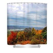 South Williamsport Foliage Shower Curtain