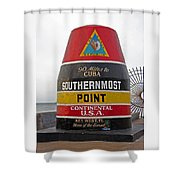 Southermost Point Of U. S. A. Buoy Marker Shower Curtain