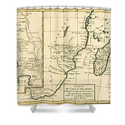 Southern Africa Shower Curtain