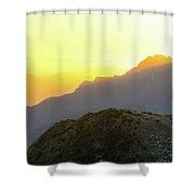 Southern Alps Sunrise Shower Curtain