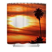 Southern California Sunset Shower Curtain