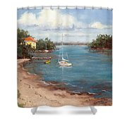 Southern Como Cottage Shower Curtain