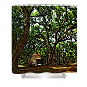 Southern Lane Shower Curtain