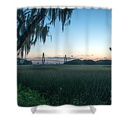 Southern Marsh Charm Shower Curtain