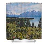 Southern New Zealand Lake Pukaki Shower Curtain