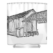 Southern Pacific Depot, Skull Valley, Az Shower Curtain