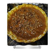 Southern Pecan Pie Shower Curtain