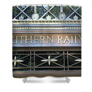 Southern Railway Building Shower Curtain
