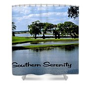 Southern Serenity Shower Curtain