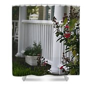 Southern Summer Flowers And Porch Shower Curtain