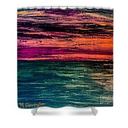 'southern Sunset' Shower Curtain