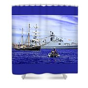 Southern Swan Cruising By Shower Curtain