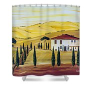 Southern Tuscany Shower Curtain