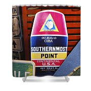 Southernmost Point Shower Curtain