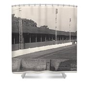 Southport Fc - Haig Avenue - Old Main Stand - Bw - Early 60s Shower Curtain