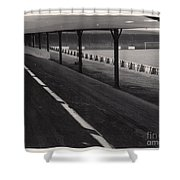 Southport Fc - Haig Avenue - Scarisbrick End 1 - Bw - Early 60s Shower Curtain