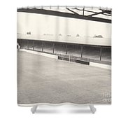 Southport Fc - Haig Avenue - Scarisbrick End 2 - Bw - Early 60s Shower Curtain