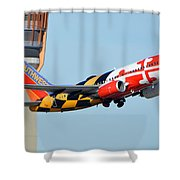 Southwest Boeing 737-7h4 N214wn Maryland One Phoenix Sky Harbor January 19 2016 Shower Curtain