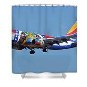 Southwest Boeing 737-7h4 N280wn Missouri One Phoenix Sky Harbor January 24 2016 Shower Curtain